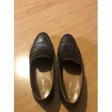Brązowe buty skórzane mokasyny Gino Rossi roz.40