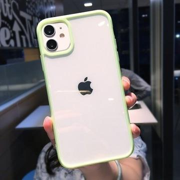 Przezroczyste Etui(Zielony) -iPhone 12pro-HIT!!!