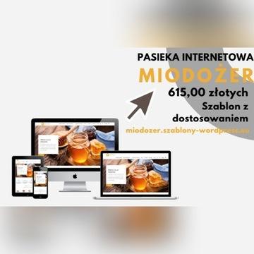 Sklep/Pasieka internetowa - szablon + dostosowanie