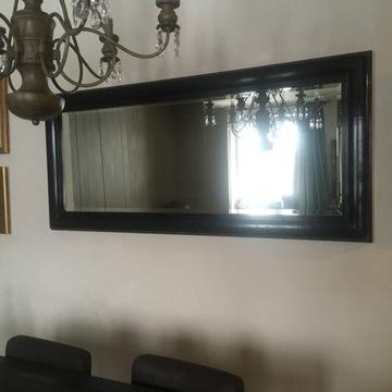 Lustro kryształowe w drewnianej ramie 180x80 cm