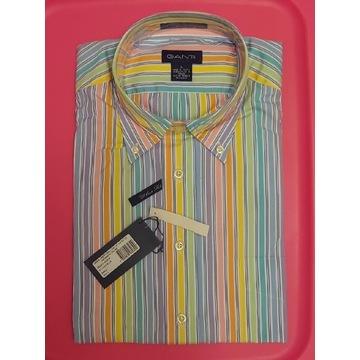 Nowa Męska Koszula Gant Liberty Bell Poplin L