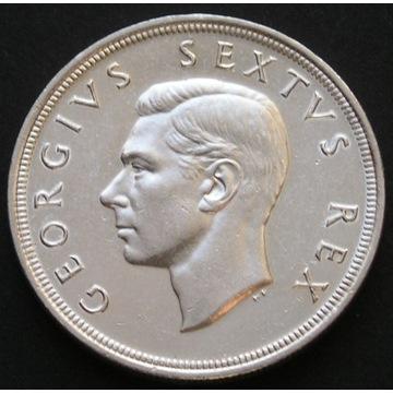Afryka Południowa 5 shillings 1949 - srebro