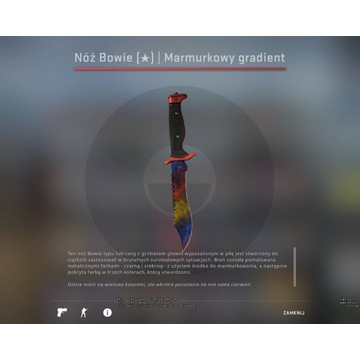 Nóż Bowie|Marmurkowy gradient FN kosa skin CS GO