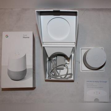 Google home inteligentny przenośny głośnik biały