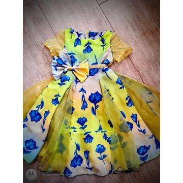 Sukienka MFL wizytowa r. 130-140 organdyna żorżeta