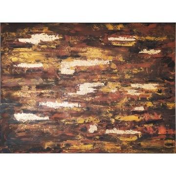 Terra 2 duży obraz 120 x 90 cm abstrakcja