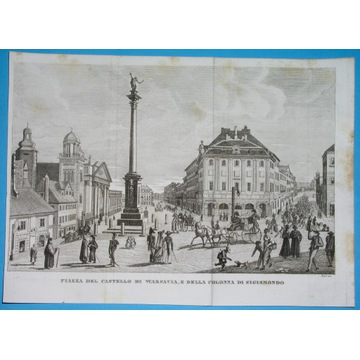 1831 ORYGINAŁ WARSZAWA Mazowsze PLAC ZAMKOWY