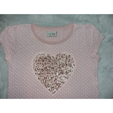Śliczna bluzka NEXT roz.128 cekiny