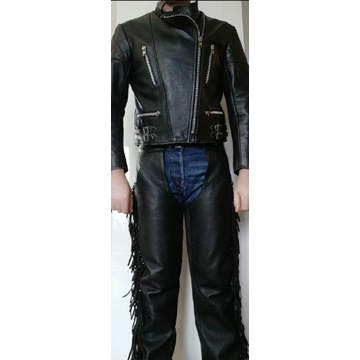 Spodnie skórzane męskie motocyklowe roz. L