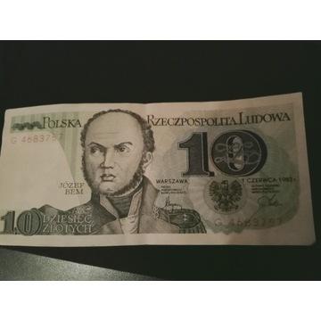 Banknot PRL 1982