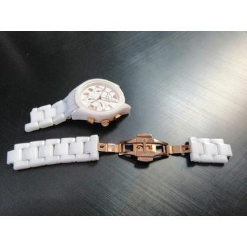 Ogniwo ceramika Armani biały zapięcie AR 1417