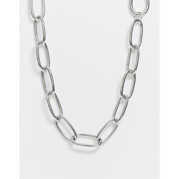 ASOS DESIGN łańcuszek na ciała w srebrnym kolorze