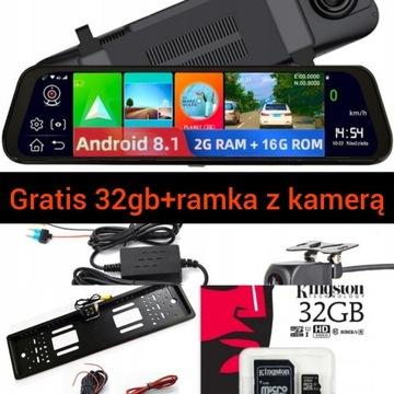 Rejestrator Lusterko Android 8.1GRATIS32gb+tablica