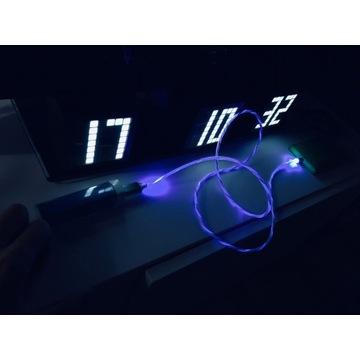 Kable LED z funkcją magnetyczną do ładowarki Tele.