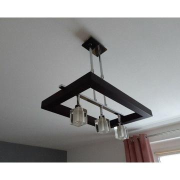 Lampa sufitowa wisząca Czarna rama żarówki gratis