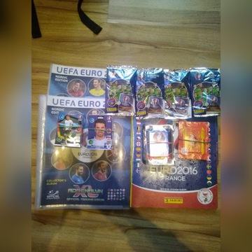 PANINI EURO 2016 4 ALBUMY 180 KART SASZETKI COLA
