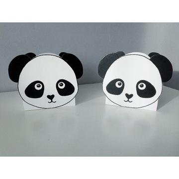 Pojemnik na kredki - miś panda