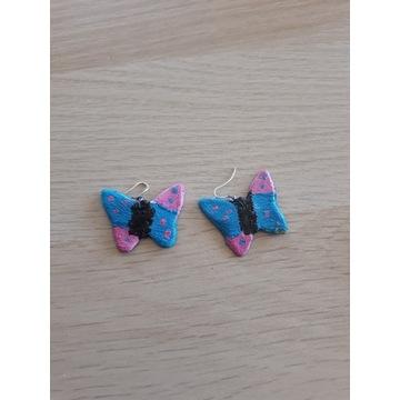 Kolczyki ręcznie robione motylki