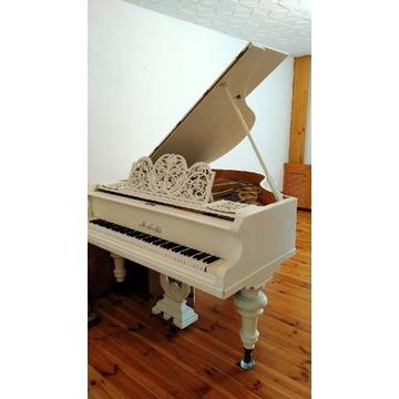 """Fortepian """"Małecki"""" 170cm, biały, w pełni sprawny"""