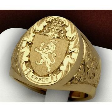 Pierścionek złoty z litego złota 18K
