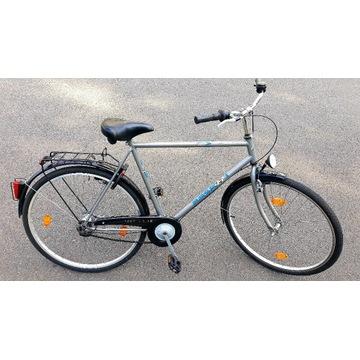 męski rower miejski trekkingowy wyposażony 28 SRAM