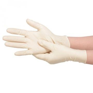 Rękawiczki lateksowe latex 100 szt S, M, L, XL