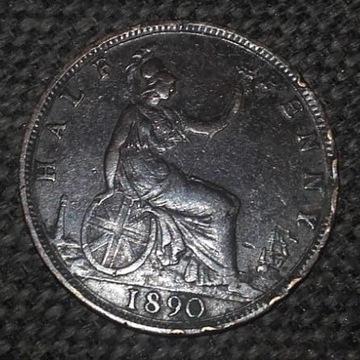 half penny 1890 Victoria