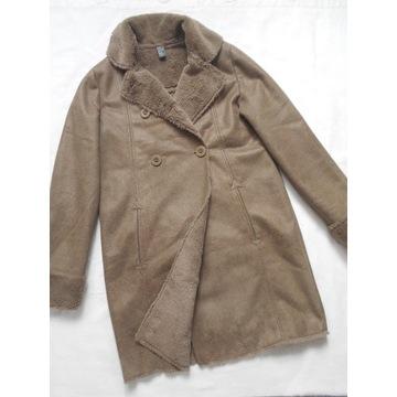 ZARA modny płaszczyk kożuszek 13-14l__164