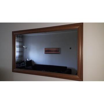 Lustro w ramie średni brąz 115cm x 70 cm