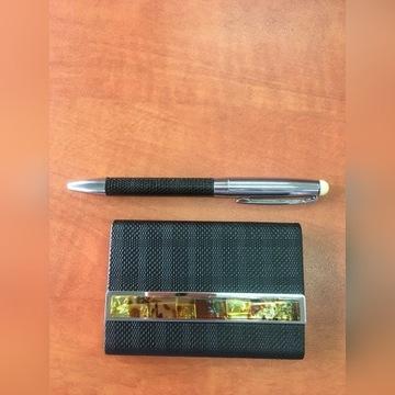 Wizytownik i długopis prezent, nowy