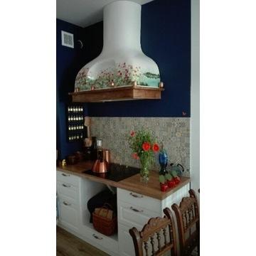 Okap kuchenny przyścienny na zamówienie handmade