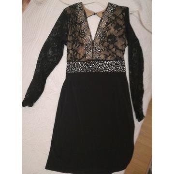 Sukienka bez pleców czarna