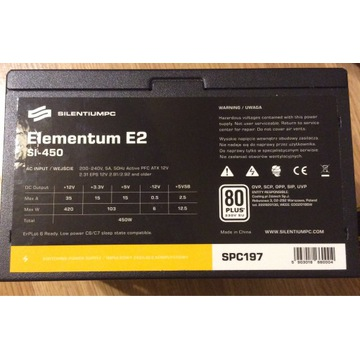 Zasilacz komputerowy Elementum E2 450wat