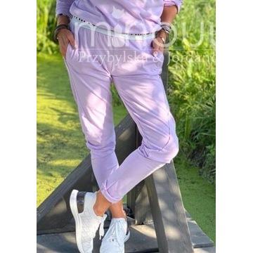 Minouu spodnie bawełniane lila Megi