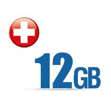 Internet na kartę 12GB Roaming Szwajcaria