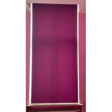 Roleta materiałowa fioletowa 110 cm x 250 cm