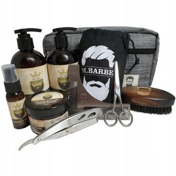 Zestaw Do Brody M.BARBE Kosmetyki Nożyczki Brzytwa