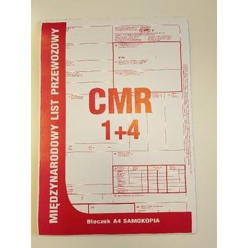 CMR międzynarodowy list przewozowy 4+1 40 kartek