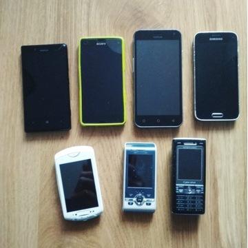 Smartfony z szuflady - 4 szt na części/ do naprawy