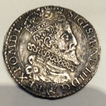 Szóstak Zygmunt III Waza 1596 r Malbork  3xRRR