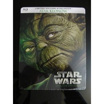 STAR WARS cz.II  Atak klonów - BD SteelBook (NOWY)