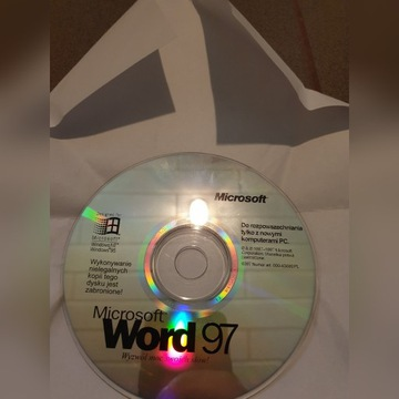 Płyta Microsoft Word 97, Oryginalna, Polecam!