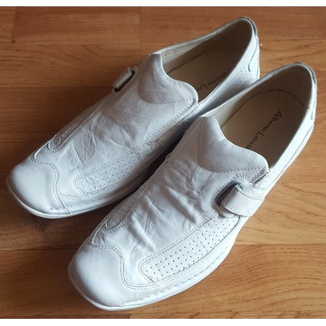 Buty skórzane białe