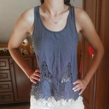 Amisu Zwiewna bluzka z wycięciami rozmiar XS