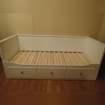 Łóżko białe HEMNES z 3 szufladami - IKEA