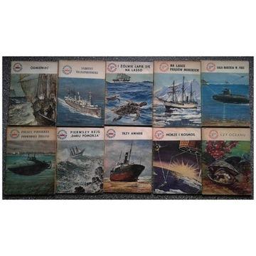Książki zeszyty Miniatury morskie zestaw 29 sztuk