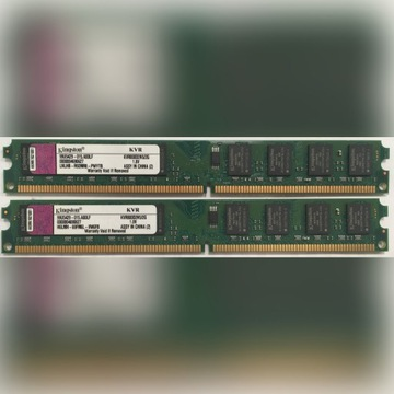 4GB KINGSTON 2GB KVR800D2N5/2G CL5 DDR2 Low Profil
