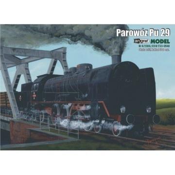 Angraf Parowóz Pu 29 model kartonowy NOWY
