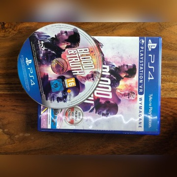 Ps4 VR blood& truth dubing PL