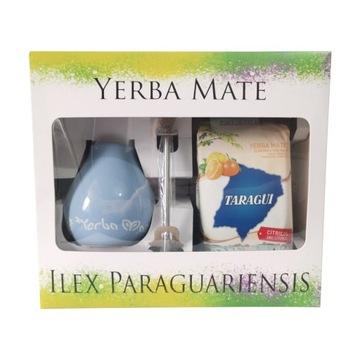 Zestaw w pudełku z Yerba Mate Taragui Citricos